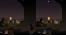 Difference-in-a-game-park-under-a-starry-sky